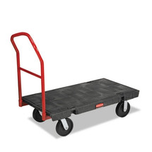 Rubbermaid Commercial Platform Truck, 2000-lb Cap., 24w x 48d x 7h, Black