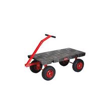 Rubbermaid Commercial 5th-Wheel Wagon Truck, 2000-lb Cap., 24 1/4w x 56 1/4d x 17 1/2h, Black