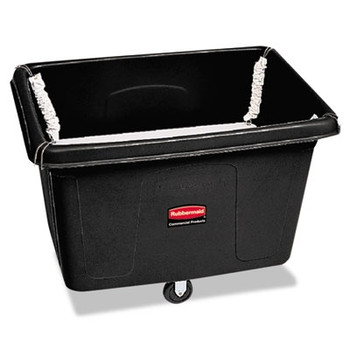 Rubbermaid Commercial Spring Platform Truck, Rectangular, 500 lb. Cap., Black