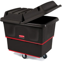 Rubbermaid Commercial Heavy-Duty Utility Truck, Rectangular, 1000-lb. Cap., Black