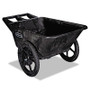 Rubbermaid Commercial Big Wheel Agriculture Cart, 300 lb Cap., 32 3/4 x 58 x 28 1/4, Black