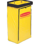 Rubbermaid Commercial Zippered Vinyl Cleaning Cart Bag, 21 gal,