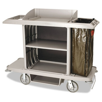 rubbermaid commercial fullsize cart 1shelf 22w x 60d x