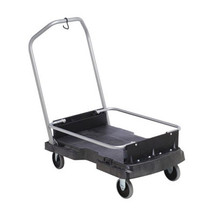 Rubbermaid Commercial Ice-Only Cart, 500-lb Cap., 21 2/5w x 39 1/10d x 15h, Black