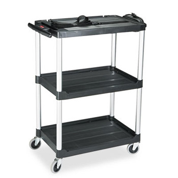 rubbermaid commercial media master av cart 2shelf 1834w x 3234d x 42h