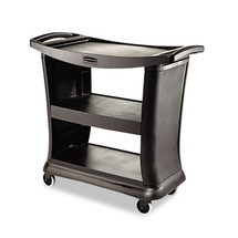 Rubbermaid Commercial Executive Service Cart, 3-Shelf