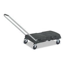 Rubbermaid Commercial Straight Handle Triple Trolley, 500lb, 20 1/2w x 32 1/2d x 35h, Black