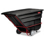 Rubbermaid Commercial Rotomolded Tilt Truck, 2300-lb Cap., Black, 2 Cu. Yd., 46-3/4W x 81-1/4D x 50H