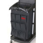 Rubbermaid Commercial Organizer for Cleaning Carts, Black, 9-Pocket, Fabric, 28L x 19 3/4W x 1 1/2H