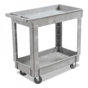 Utility cart 2 lipped shelf