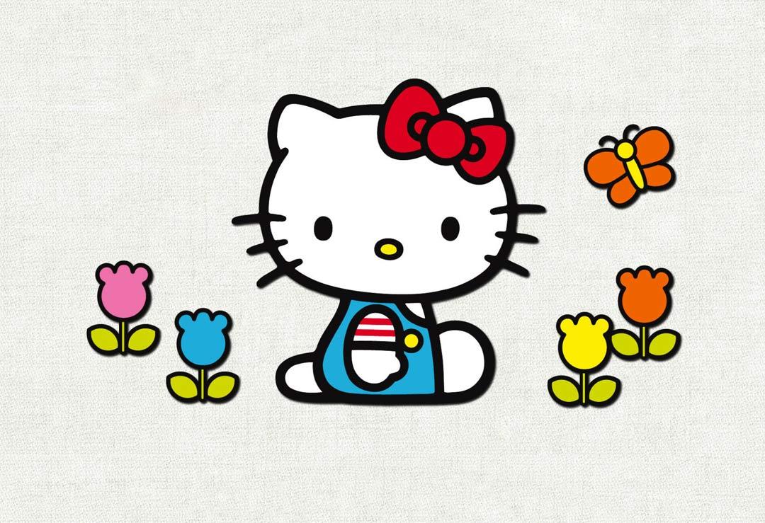 Hello Kitty Cardboard Cutout & Stand-in