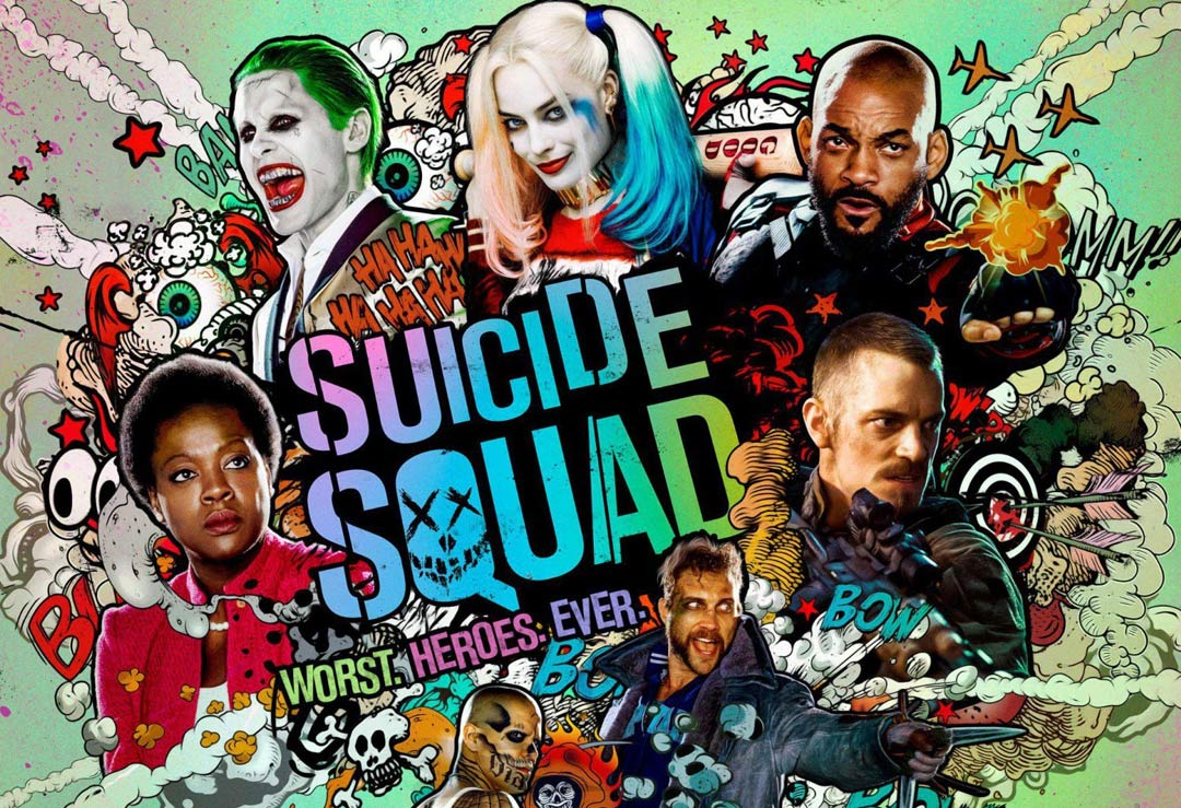 Suicide Squad Cardboard Cutouts, Posters and T-shirts