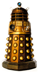 Dalek (Gold) (Doctor Who) - Lifesize Cardboard Cutout / Standee