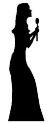 Singer Silhouette (Party Prop) - Lifesize Cardboard Cutout / Standee