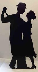 Salsa Dancer (Silhouette) (Party Prop) - Lifesize Cardboard Cutout / Standee