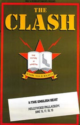 THE CLASH AND THE ENGLISH BEAT AT THE HOLLYWOOD PALLADIUM () Music POSTER