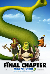 SHREK FOREVER AFTER Poster - Shrek 4 (Mike Myers, Cameron Diaz, Eddie Murphy) double sided ADVANCE US ONE SHEET (2010) ORIGINAL CINEMA POSTER
