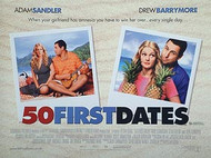 50 FIRST DATES ORIGINAL CINEMA POSTER