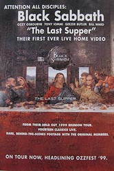 BLACK SABBATH: THE LAST SUPPER (Live Home Video) ORIGINAL VIDEO/DVD AD POSTER