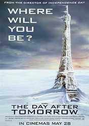 THE DAY AFTER TOMORROW (Eiffel Tower) (DOUBLE SIDED) ORIGINAL CINEMA POSTER