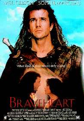 BRAVEHEART (Single Sided Reprint) (MEL GIBSON & SOPHIE MARCEAU) REPRINT POSTER