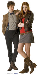 The Doctor (Matt Smith) & Companion Amy Pond (Karen Gillan) - BBC Doctor Who / Dr Who / Dr. Who - Lifesize Cardboard Cutout / Standee