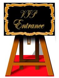 VIP Sign - Lifesize Cardboard Cutout / Standee