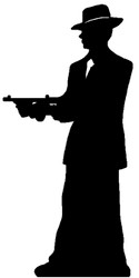 Gangster Silhouette (Single Pack) - Gangsters & Molls - Lifesize Cardboard Cutout / Standee