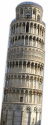 The Leaning Tower of Pisa - Lifesize Cardboard Cutout / Standee