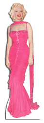 Marilyn Monroe Pink Evening Gown cardboard cutout