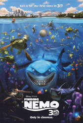 FINDING NEMO 3D Poster