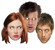 Doctor Who Party Face Masks  (Companions set of 3)