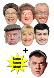 Mrs Brown's Boys Face Mask Set of 7