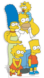 The Simpsons Family cutout