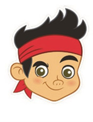 Jake and The Neverland Pirates Face Mask