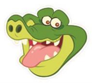 Tick Tock Croc Face Mask