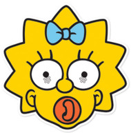 Maggie Simpson Party Face Mask (The Simpsons)