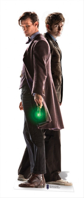The 10th And 11th Doctors Lifesize Cardboard Cutout From