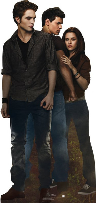 Edward Cullen, Jacob Black and Bella Swan (Twilight Saga - Robert Pattinson, Taylor Lautner) - Lifesize Cardboard Cutout / Standee