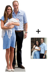 Royal Baby Prince George, William and Kate Middleton Lifesize Cardboard Cutout / Standup - Commemorative Pack