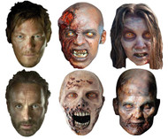 The Walking Dead Party Face Mask Varety set of 6