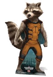 Rocket Raccoon Guardians Of The Galaxy Lifesize Cardboard Cutout
