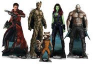 The Guardians Of The Galaxy Lifesize Cardboard Cutout Complete Set of 5