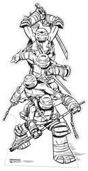 Teenage Mutant Ninja Turtles Colour and Keep Cardboard Cutout
