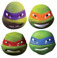 Teenage Mutant Ninja Turtles Variety 4 Pack 2014 Card Masks
