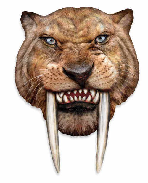 how to draw a saber tooth tiger head