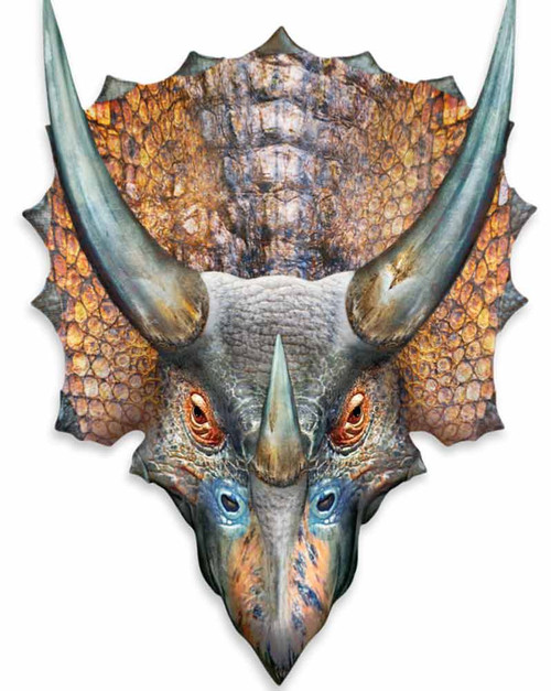 Triceratops 3D Effect Pop Out Cardboard Cutout Wall Art | Buy Pop Out ...