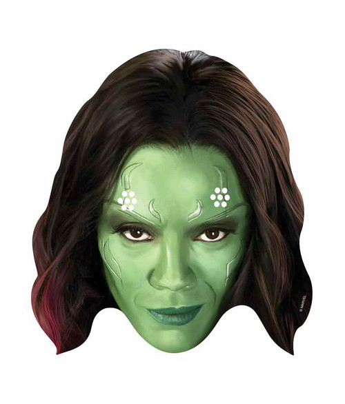 Gamora Marvel Guardians Of The Galaxy Card Face Mask