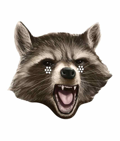 Rocket Raccoon Guardians of the Galaxy Single Card Party Face Mask Raccoon Face