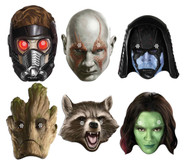 Guardians of the Galaxy Card Face Masks Variety 6 Pack